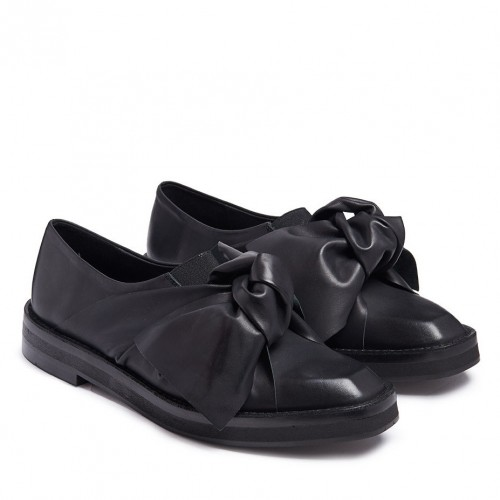 miista priyanka black brogues with bow