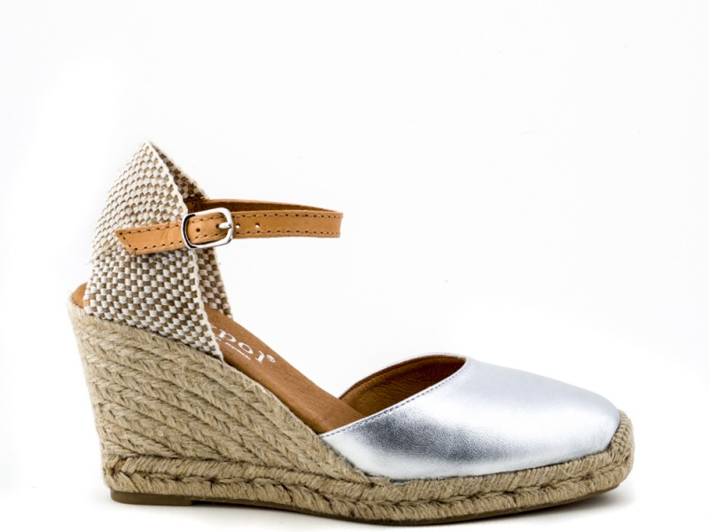 36bba5c0ac6 Maypol Nantes Silver Espadrilles with Leather Strap - Niutrack.com