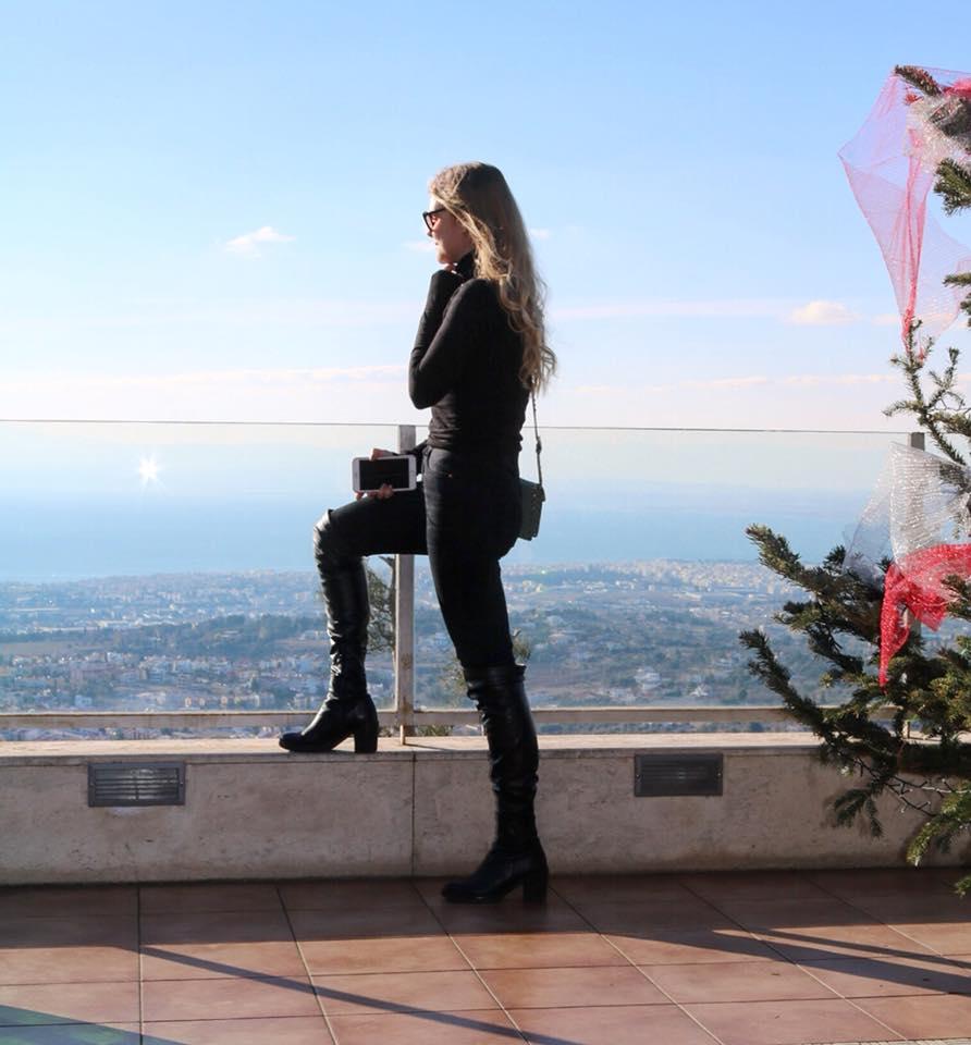 Miista E8 Evie Black Leather and PU Boot