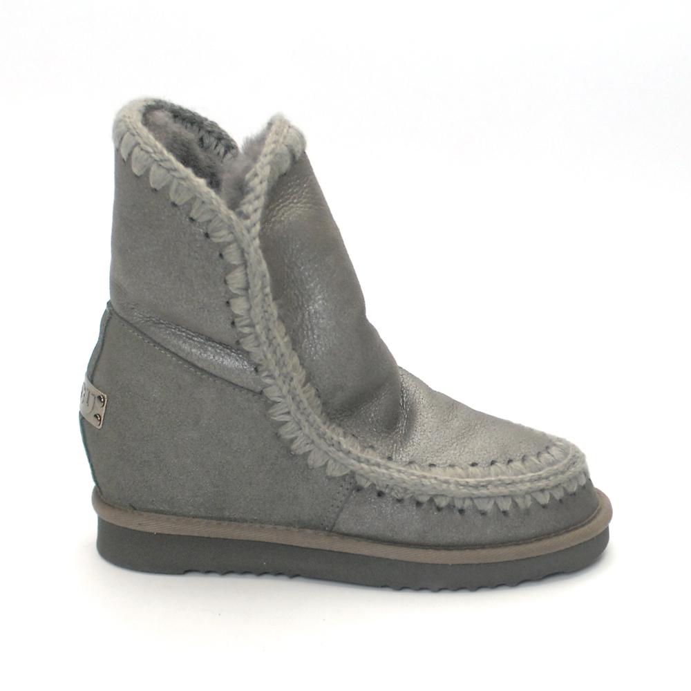informazioni per f1318 74642 Mou Boots Eskimo New Metal Grey Inner Wedge