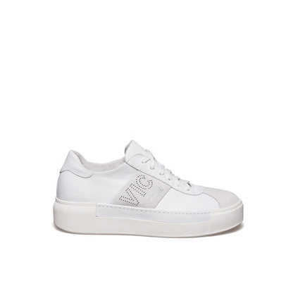 Vic Flatform Sneakers White Matie Leather gwfgZUxq