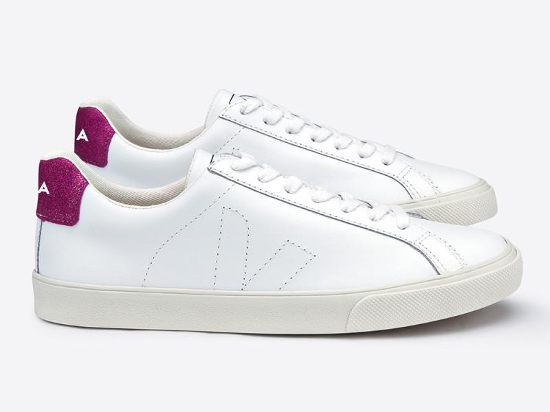 Veja Esplar White Magenta Leather