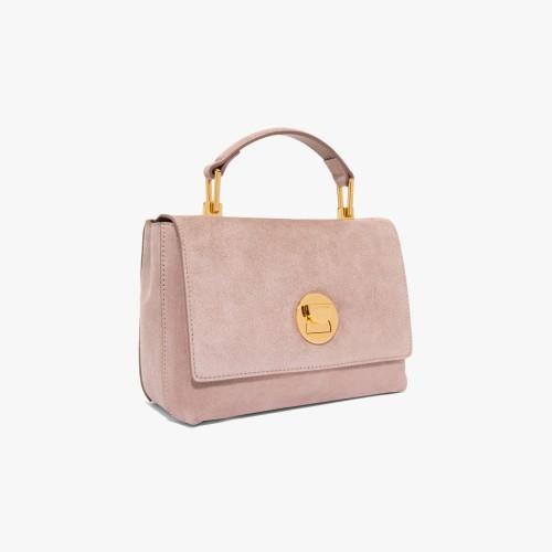 Coccinelle Liya Pivoine suede minibag