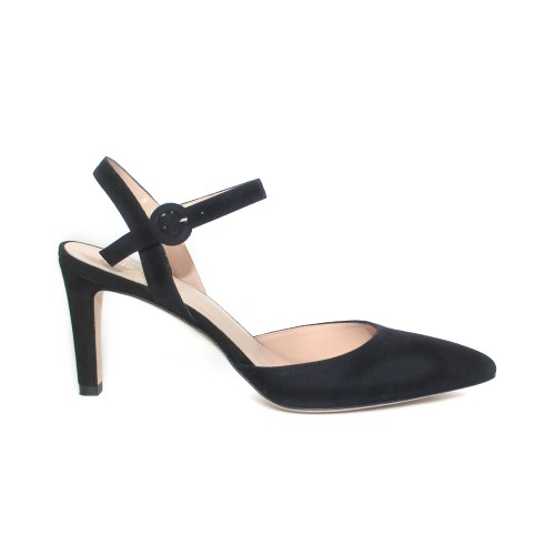 The Bag Slingback Black Suede Pumps
