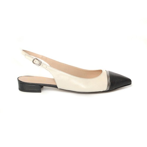 The Bag Sling Back Point toe flats