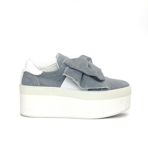 Vic Matie Bow Denim Platform