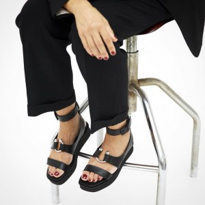 Vic-Matie-Black-Flatform-Sandal-Rubber-Sole