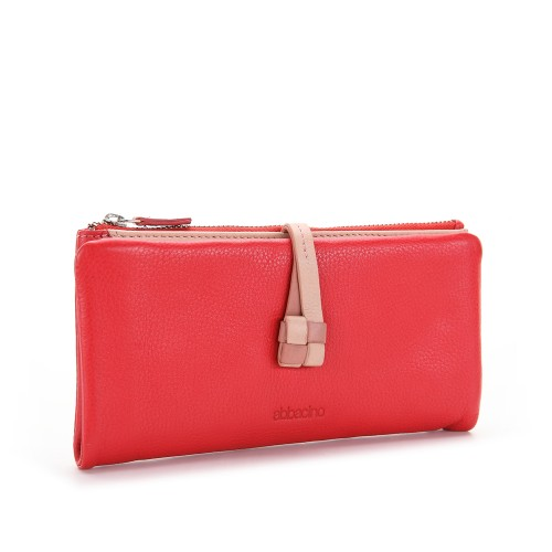 Abbacino Large Leather Wallet red