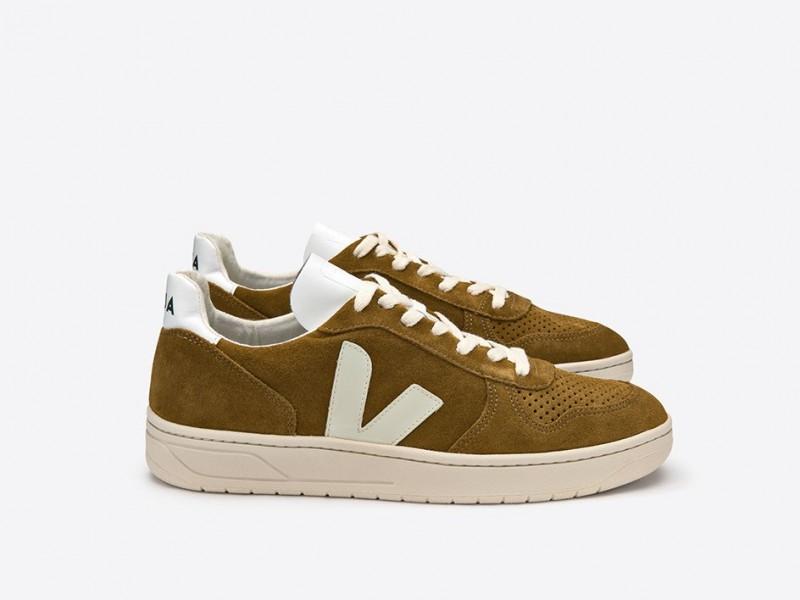 6ef6f79f253ff Veja V10 Suede Camel White Sneakers - Niutrack.com