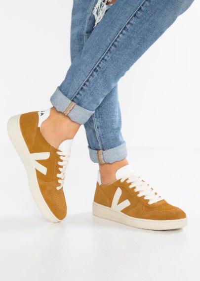 Veja V10 Suede Camel Sneakers
