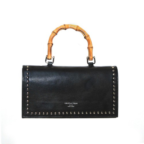 69f0cdaf3c ... Christian Villa black medium handbag