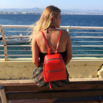 Gianni -Chiarini Red -Leather Small -Backpack