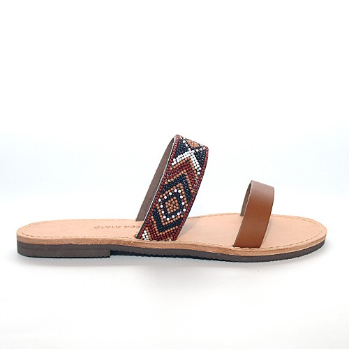 Greek Salad Klima Leather Sandals