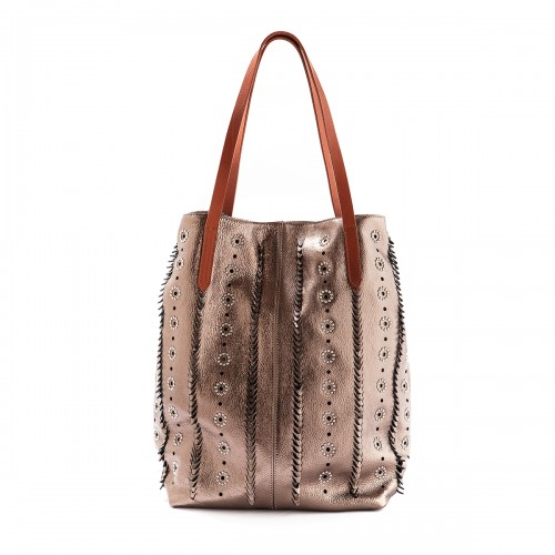 Nanni Bronze Metal embelished shopper