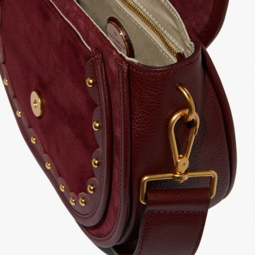 Coccinelle-Carousel-Suede-Grape-Shoulder-Bag2