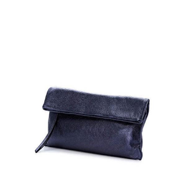 Giann -Chiarini Cherry Metallic Leather Purple Blue Clutch1