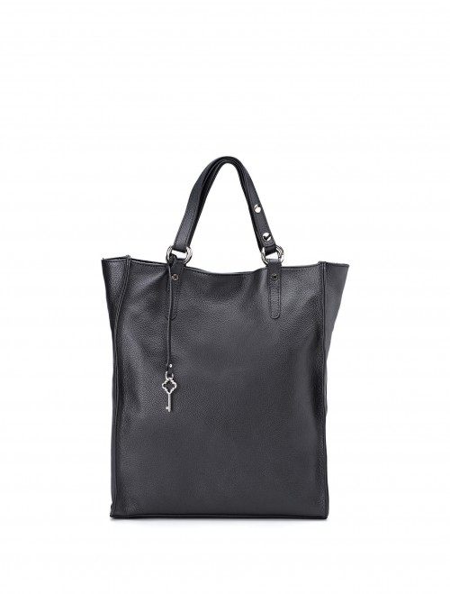 Gianni-Chiarini-Daisy-Black-Leather-Tote-Bag2