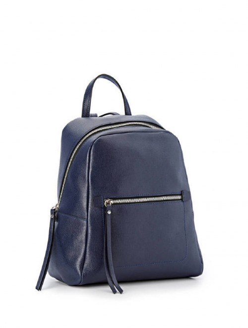 52033b6dab Gianni Chiarini Freddy Blue Leather Backpack1