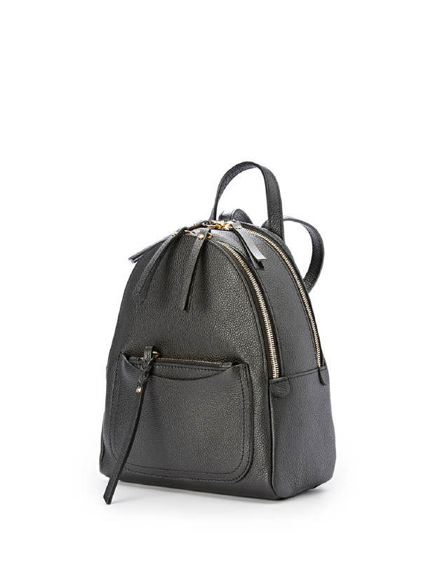 Gianni Chiarini Ogiva Smal Black Leather Backpack1