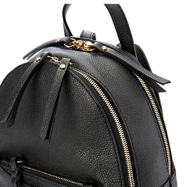 a97108c6d0 Gianni Chiarini Ogiva Small Black Leather Backpack - Niutrack.com