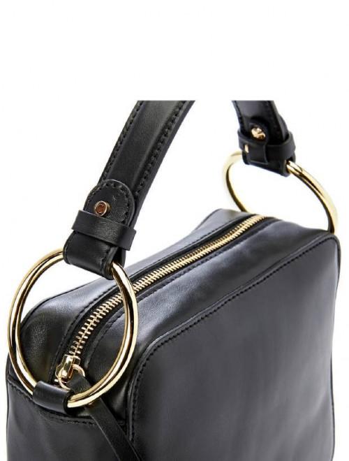 Gianni-Chiarini-Small-Black-Leather-Handbag3
