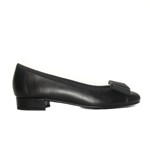 Niutrack by The Bag black leather ballerinas1