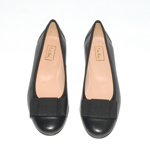 Niutrack by The Bag black leather ballerinas2