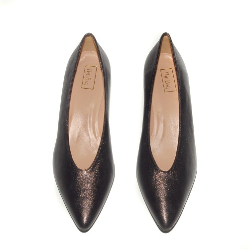 Niutrack by The Bag brown leather pumps2