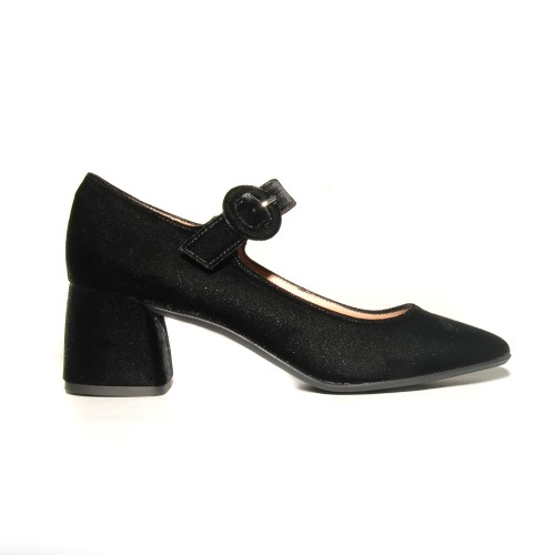 Niutrack by the Bag black velvet pumps1