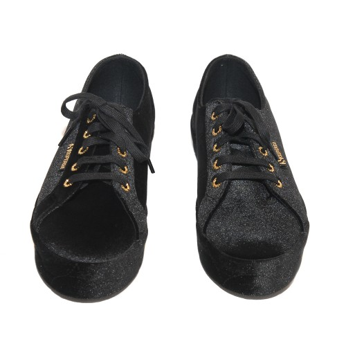 Superga-2730-Black-Velvet-Sneakers-Medium-Heel2