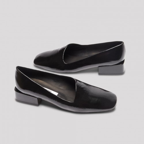 coraline black glossed leather flats1
