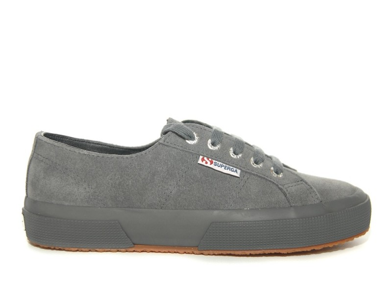 Superga 2750 Grey Stone Suede Sneakers
