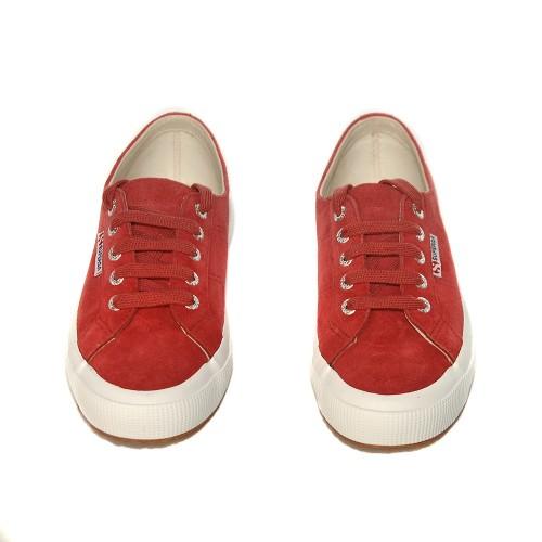 superga2750 suede red dk scarlet 2
