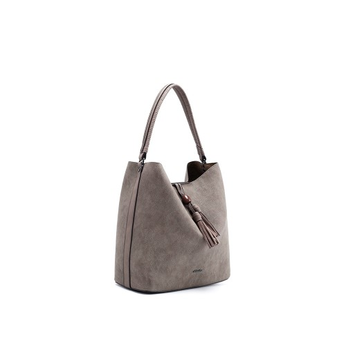 Abbacino Eco Leather Taupe Hobo Bag1