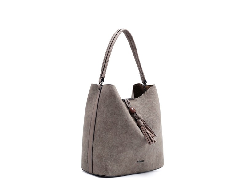 275f20892ccc Abbacino Eco Leather Taupe Hobo Bag - Niutrack.com