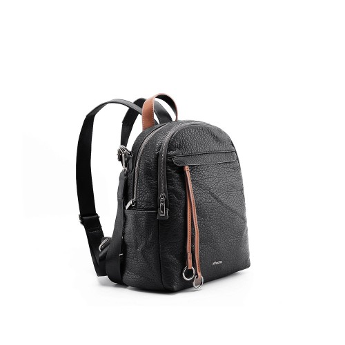 Abbacino Eco Leather Black Backpack1