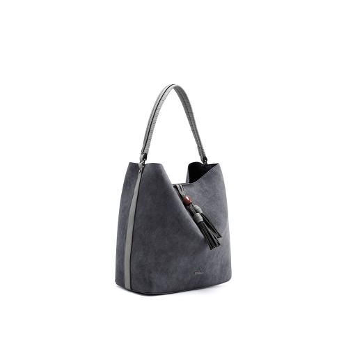 Abbacino Eco Leather Black Hobo Bag1