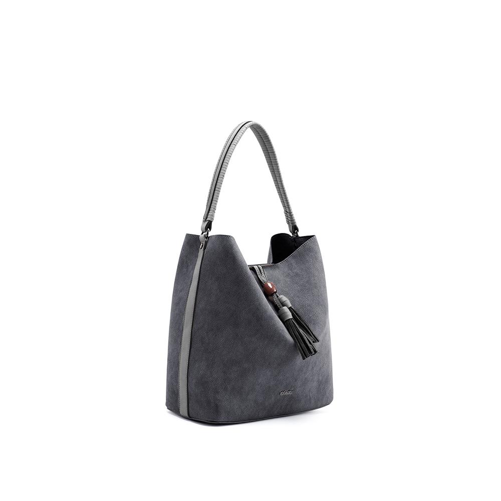 Abbacino Eco Leather Black Hobo Bag1
