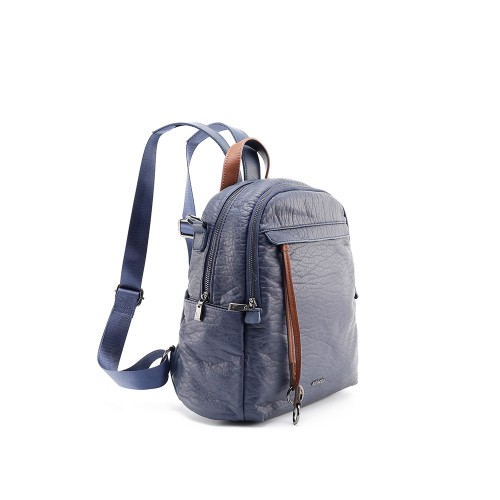 Abbacino Eco Leather Blue Backpack1