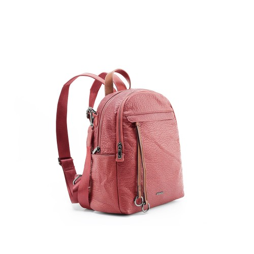 Abbacino Eco- Leather Dark Red Backpack1