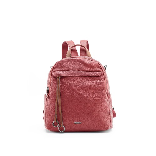 Abbacino Eco Leather Dark Red Backpack2