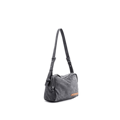 Abbacino Eco Leather Grey Medium Shoulder Bag1