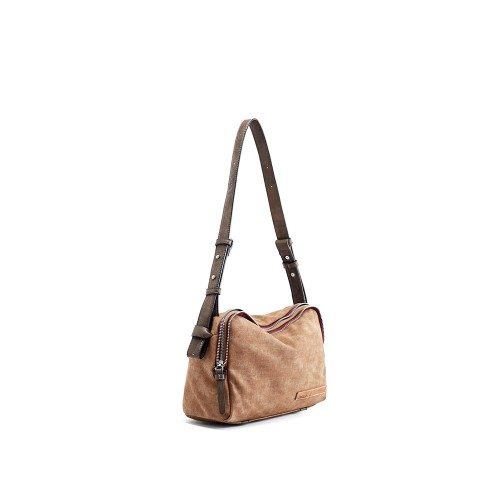 Abbacino Eco Leather Light Brown Medium Shoulder Bag1