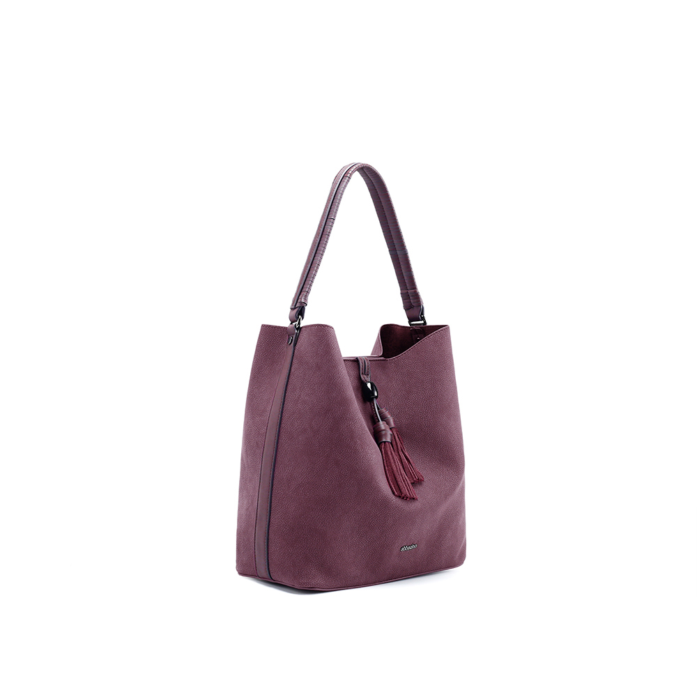 Abbacino Eco Leather Merlot Hobo Bag1