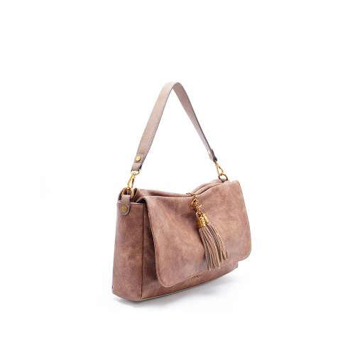 Abbacino Eco Leather Tan Shoulder Bag1