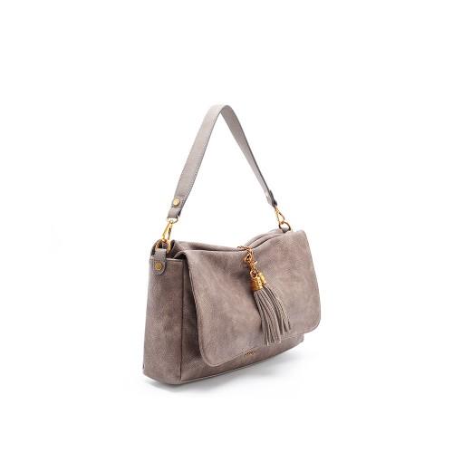 Abbacino Eco Leather Taupe Shoulder Bag1