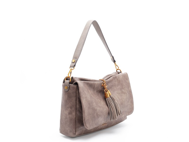 b4ea184f7098 Abbacino Eco Leather Taupe Shoulder Bag - Niutrack.com