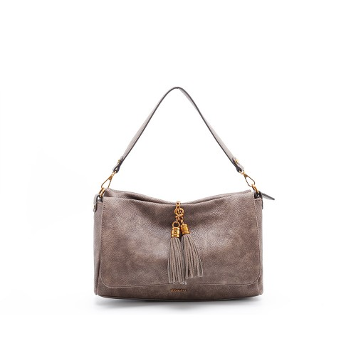 949837a40fc2 Abbacino Eco Leather Taupe Shoulder Bag