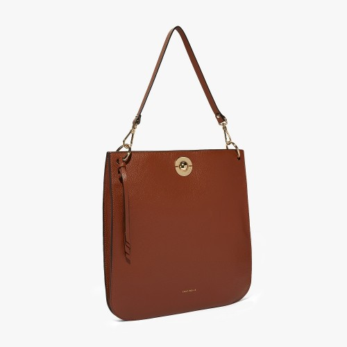 Coccinelle Jalouse Tan Leather Hobo Bag1