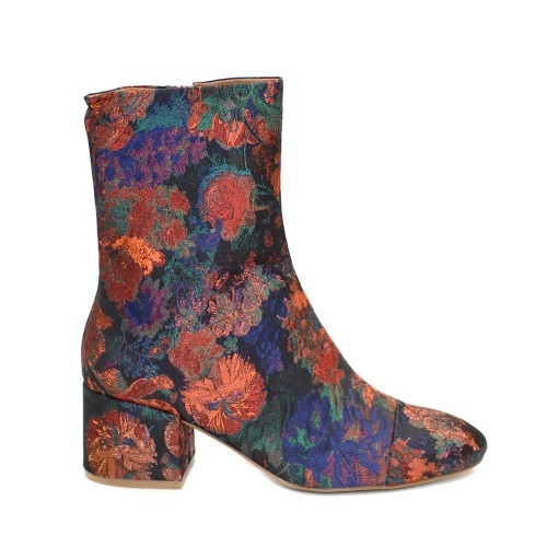 E8 by Miista Brocade Medium Heel Boots1